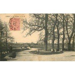 carte postale ancienne 14 CAEN. Top Promotion La Prairie 1908