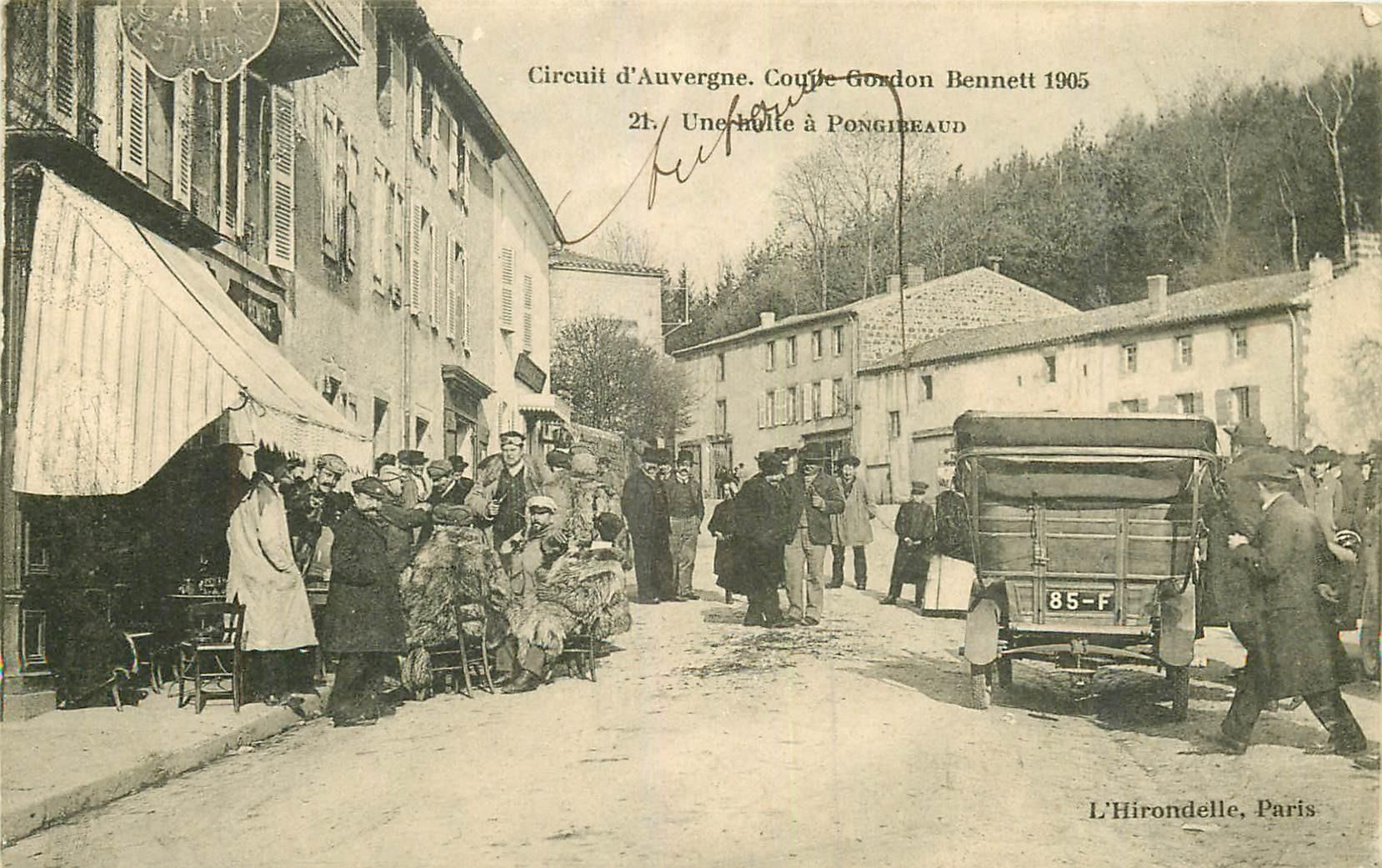WW 63 PONGIBEAUD. Une halte à Pongibeaud. Circuit Auvergne coupe Gordon Benett 1905