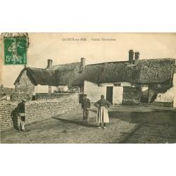 WW 80 CAYEUX-SUR-MER. Vieilles Chaumières de Pêcheurs et Paysanne 1915