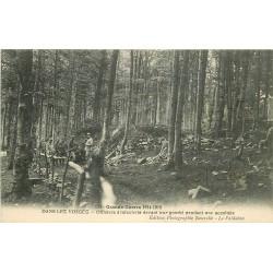 WW 88 LES VOSGES. Officiers d'Infanterie devant leur Gourbi Guerre 1914-18