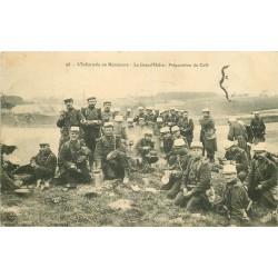 WW MILITAIRES. Infanterie en Manoeuvre le Café pendant la Halte