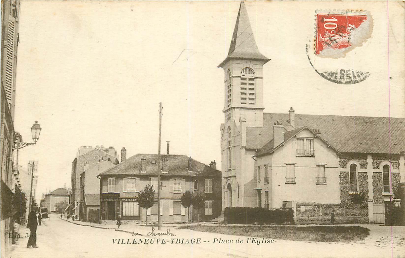 WW 94 VILLENEUVE TRIAGE. Boulangerie Breton Place de l4eglise 1917