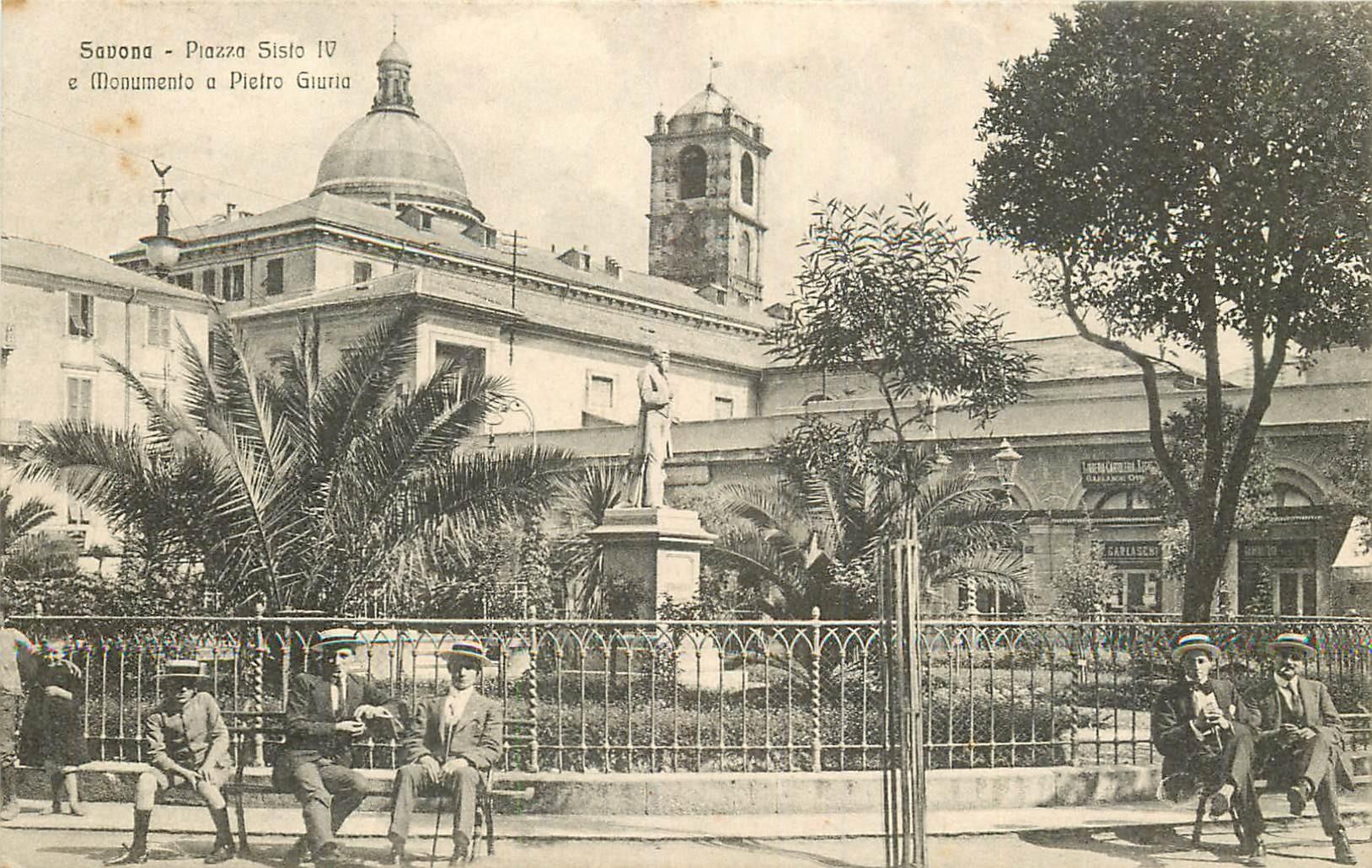 WW SAVONA. Monumento Giuria Piazza Sisto IV in Italia Italie