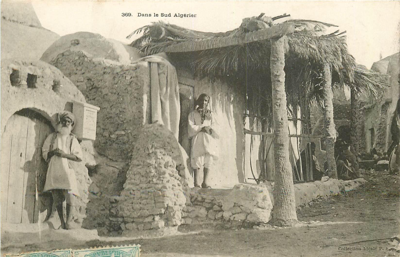 WW ALGERIE. Une boite à lettres dans le Sud Algérien 1905