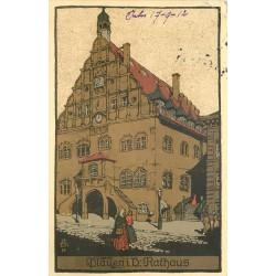 WW ALLEMAGNE DEUTSCHES REICH. Plauen 1912 Rathaus