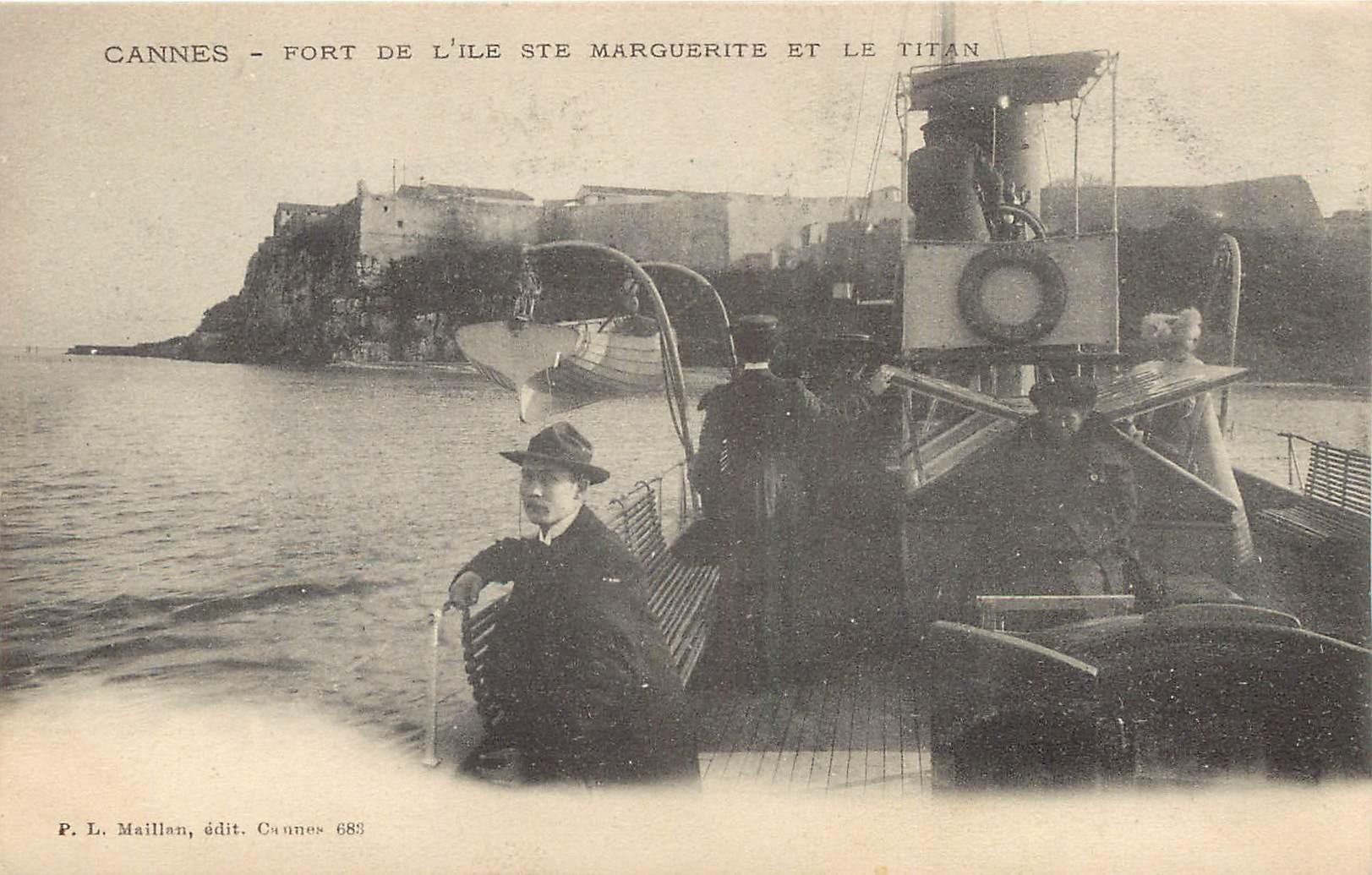 WW 06 CANNES. Fort Île Sainte Marguerite et le Titan