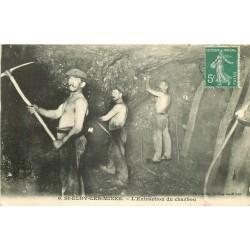 WW 63 SAINT-ELOY-LES-MINES. Extraction du Charbon par les Mineurs 1910