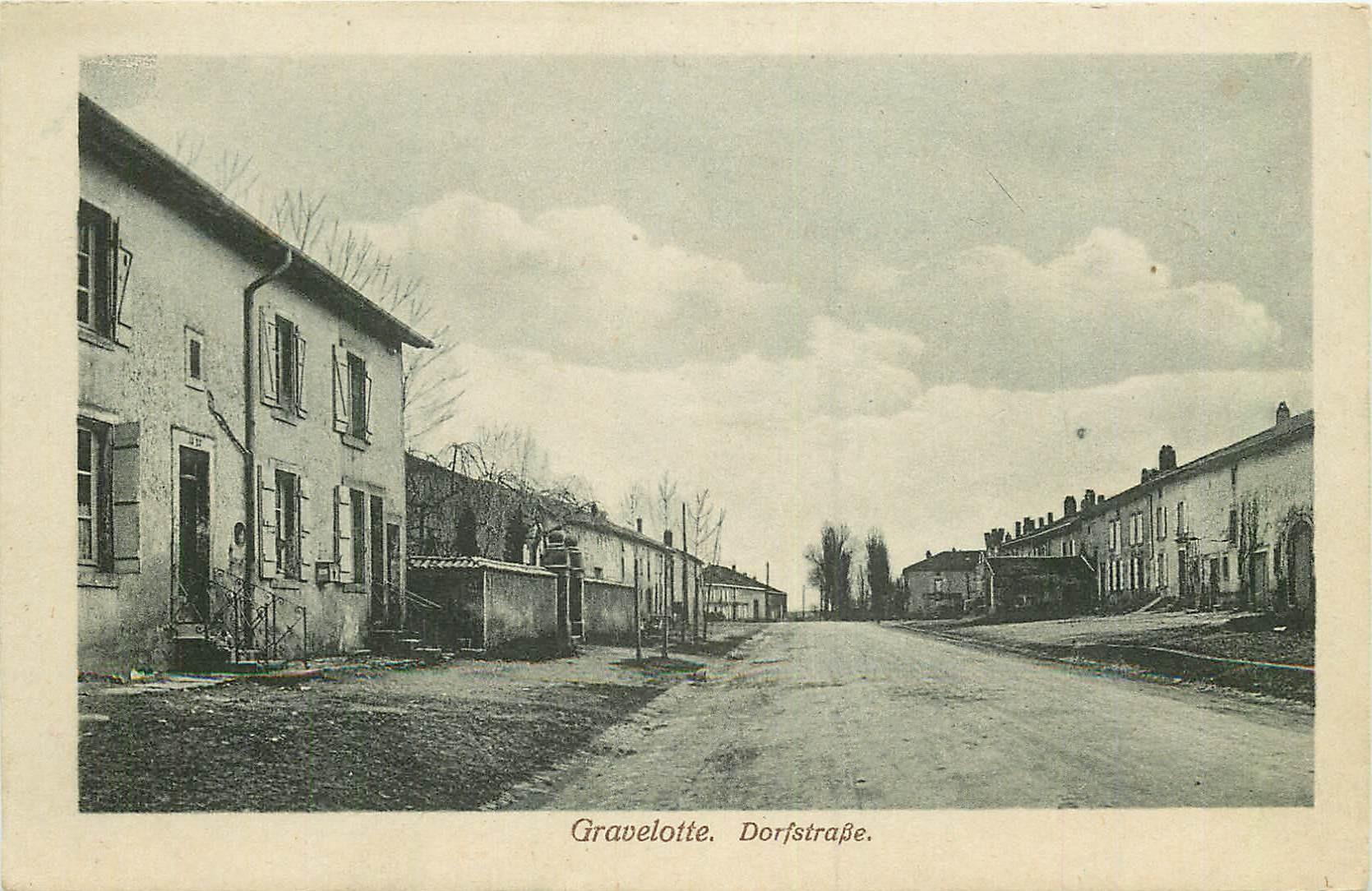WW 57 GRAVELOTTE. Dorfstrasse 1919