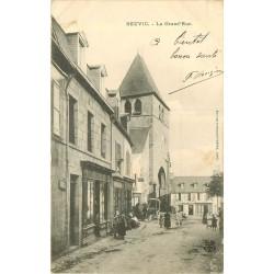 WW 19 NEUVIC. Hôtel Gouyon et Café sur la Grand Rue 1906