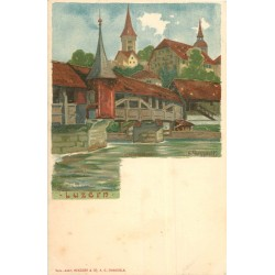 WW LUZERN LUCERNE par un Illustrateur vers 1900