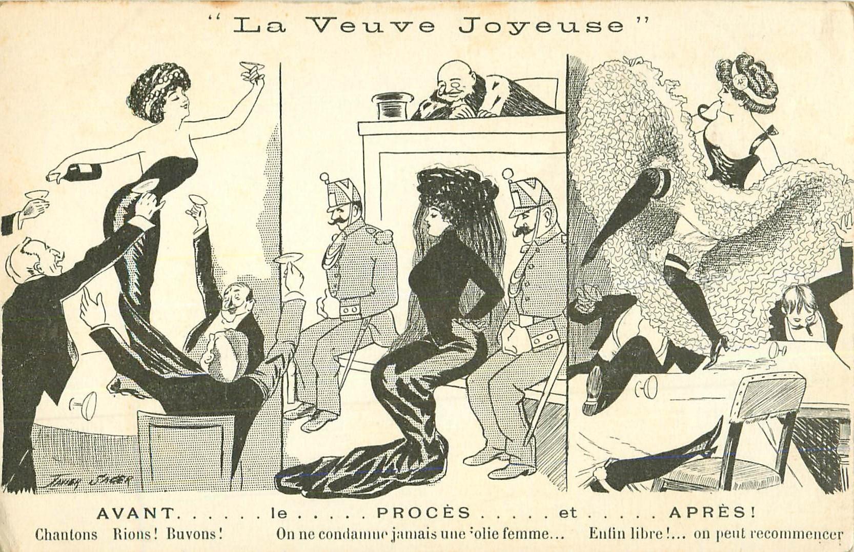 WW Illustrateur Xavier Sager. Le Procès de la Veuve Joyeuse