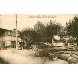 WW 03 DOMERAT. Les Alambics Place de l'Eglise au Plateau Central 1945