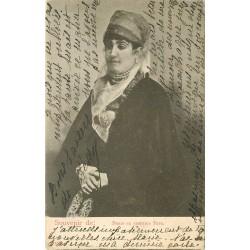 WW TURQUIE. Dame en costume Turc 1908