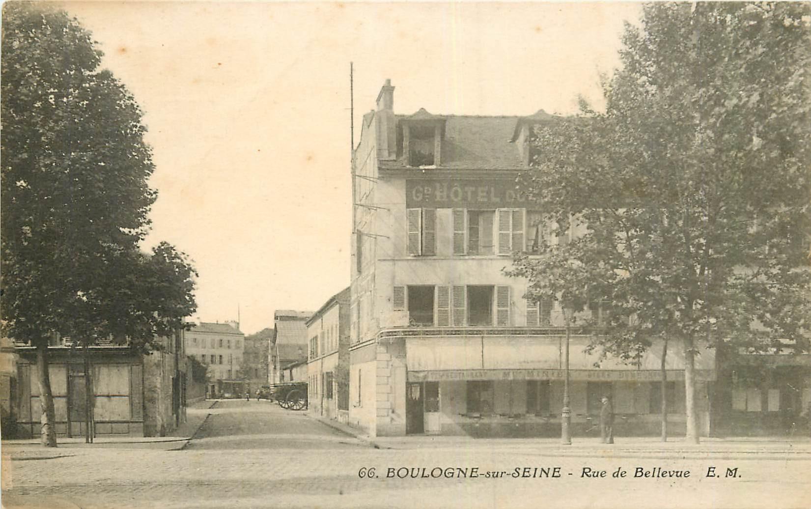 WW 92 BOULOGNE-SUR-SEINE. Hôtel Restaurant Minier rue de Bellevue