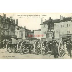 WW 55 LIGNY-EN-BARROIS. Militaires et Canons Place Nationale en 1914