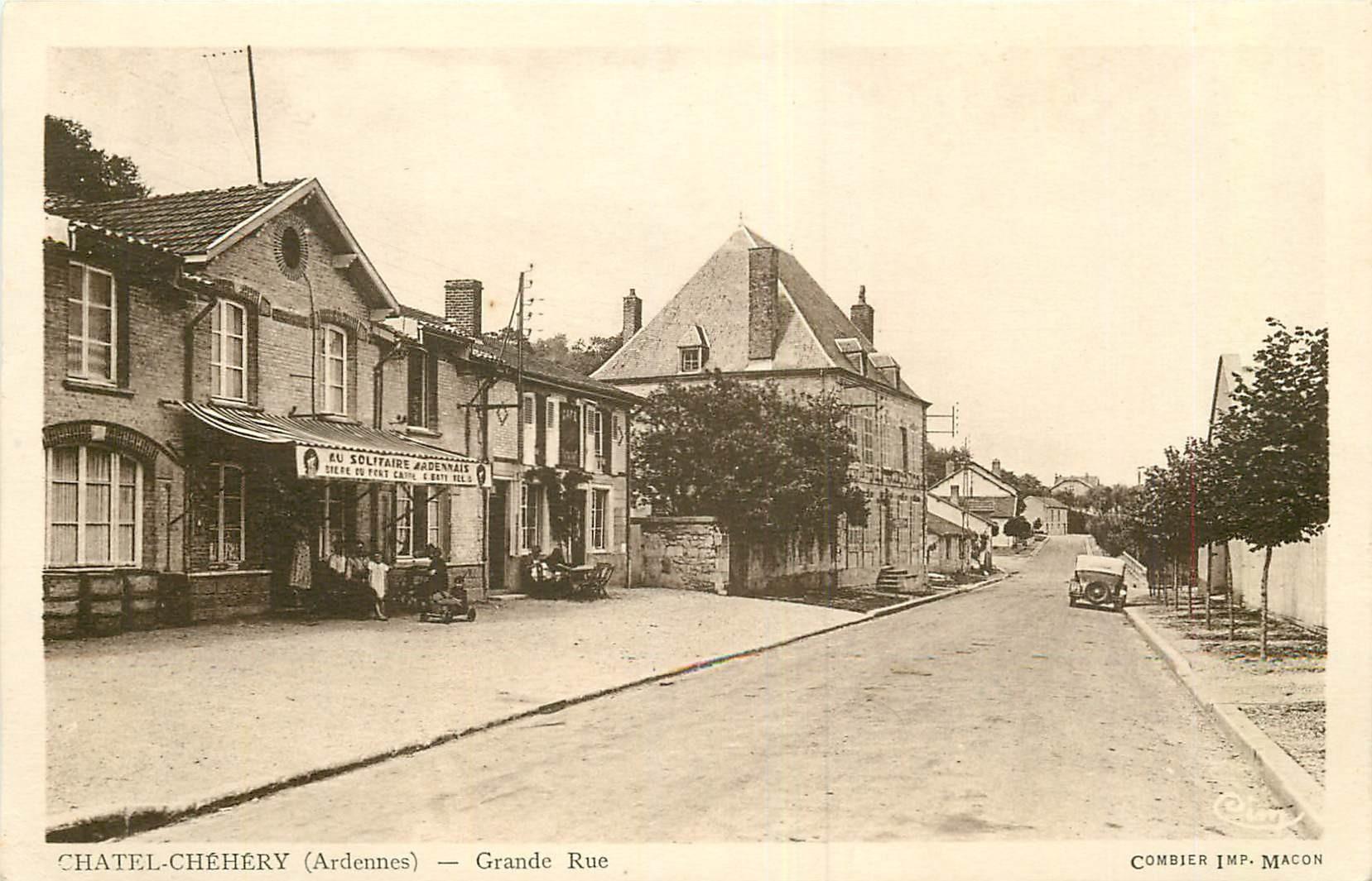 WW 08 CHATEL-CHEHERY. Café Au Solitaire ardennais sur Grande Rue