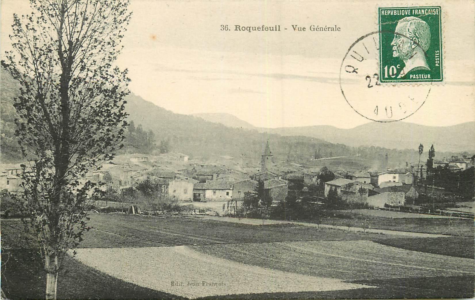WW 11 ROQUEFEUIL. Le Village 1923