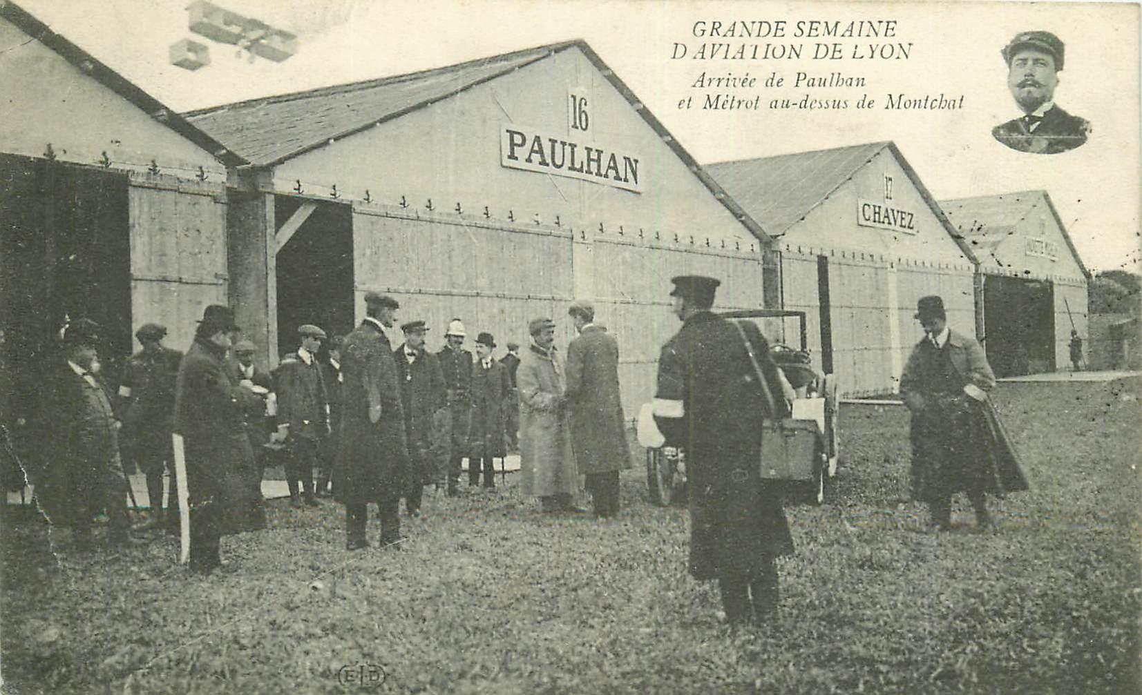 WW 69 LYON. Aviation Paulhan et Métrol Aviateurs sur Aéroplanes 1910