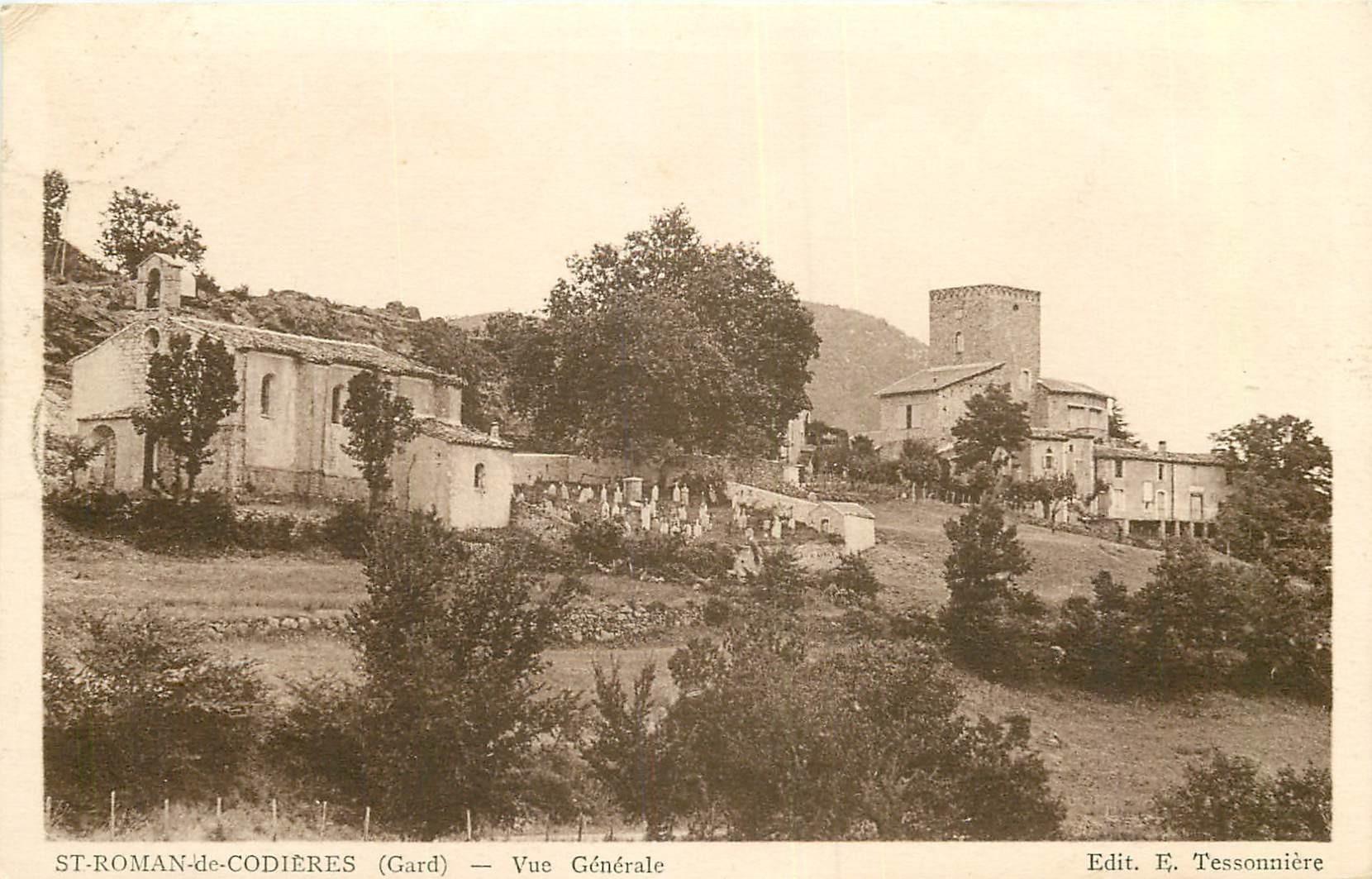 WW 30 SAINT-ROMAN-DE-CODIERES. Village, Eglise et Cimetière 1938