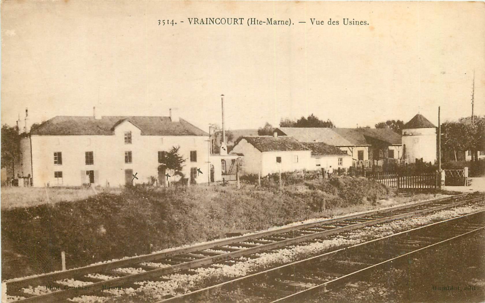 WW 52 VRAINCOURT. Vue des Usines à partir du chemin de fer