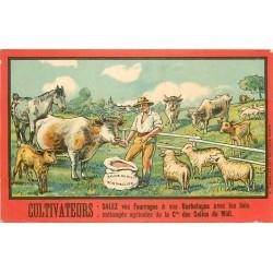 WW Publicité des Salins du Midi à Montpellier pour les Agriculteurs Fourrages et Barbotages