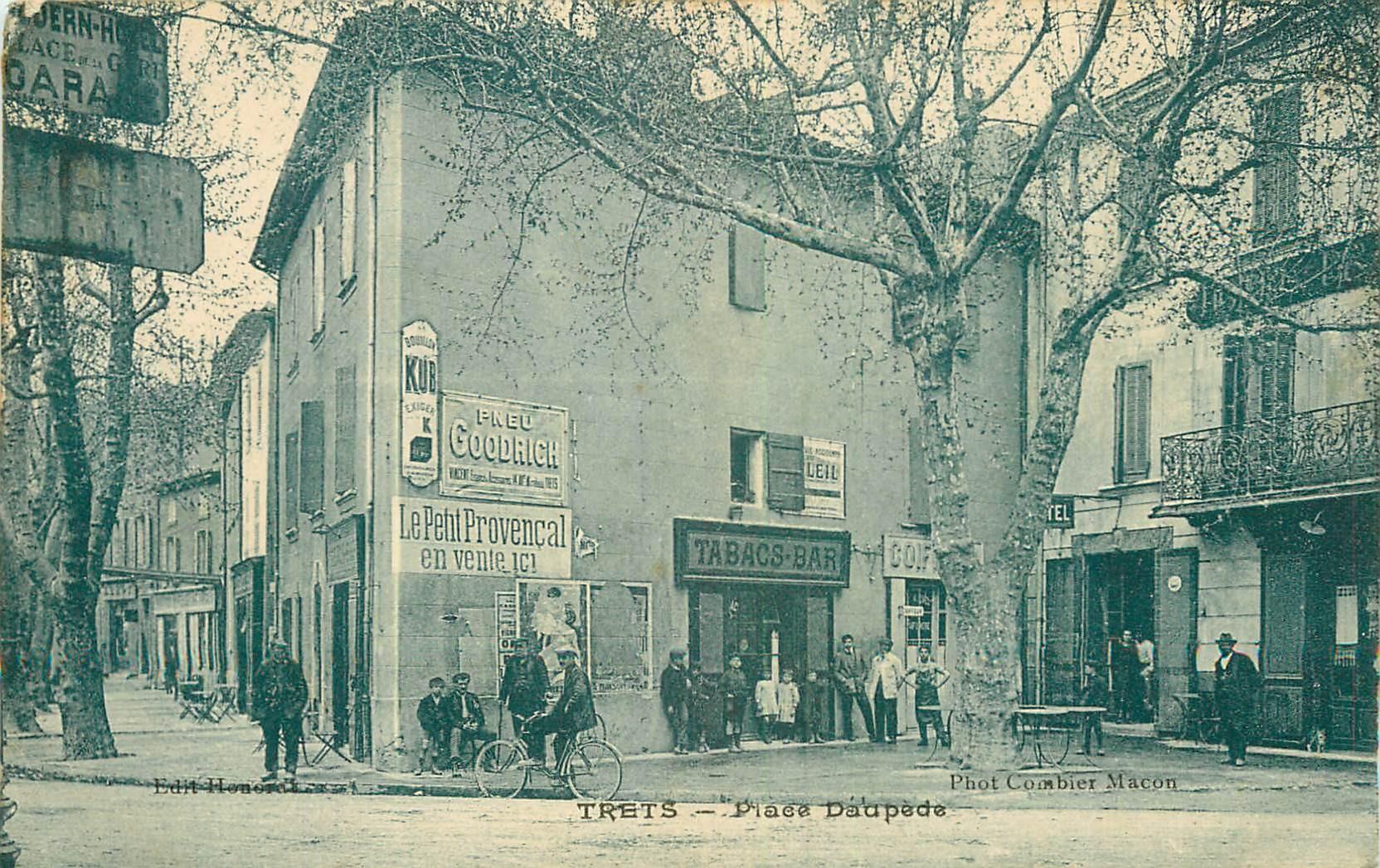 WW TRETS. Bar Tabac et Coiffeur Place Daupède 1925