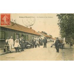 WW 18 CAMP D'AVORD. Cantine et Cuisines des Militaires avec Facteur 1912