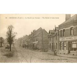 WW 62 BETHUNE. Marché aux Chevaux et Café Toursel 1927