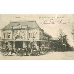 WW 58 NEVERS. Attelages au Marché Carnot Avenue de la Gare 1904