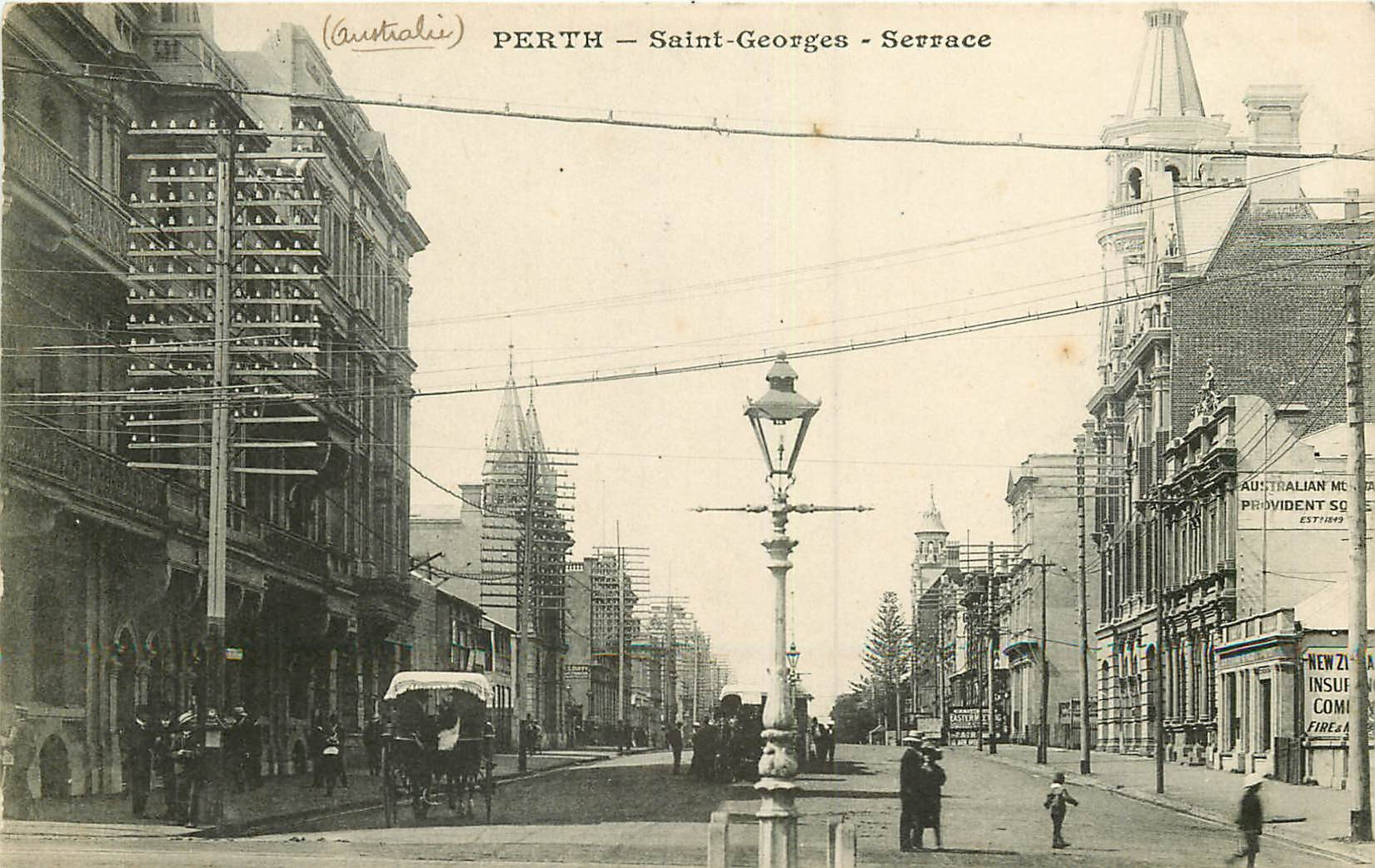 WW AUSTRALIE. Perth vers 1900. Saint-Georges Serrace