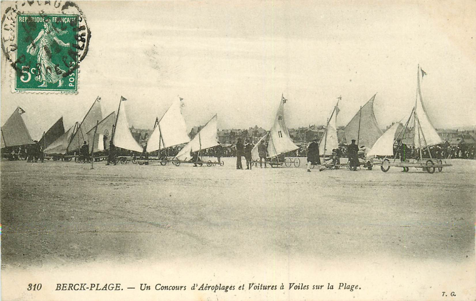WW 62 BERCK-PLAGE. Concours d'Aéroplanes et Voitures à Voiles 1912