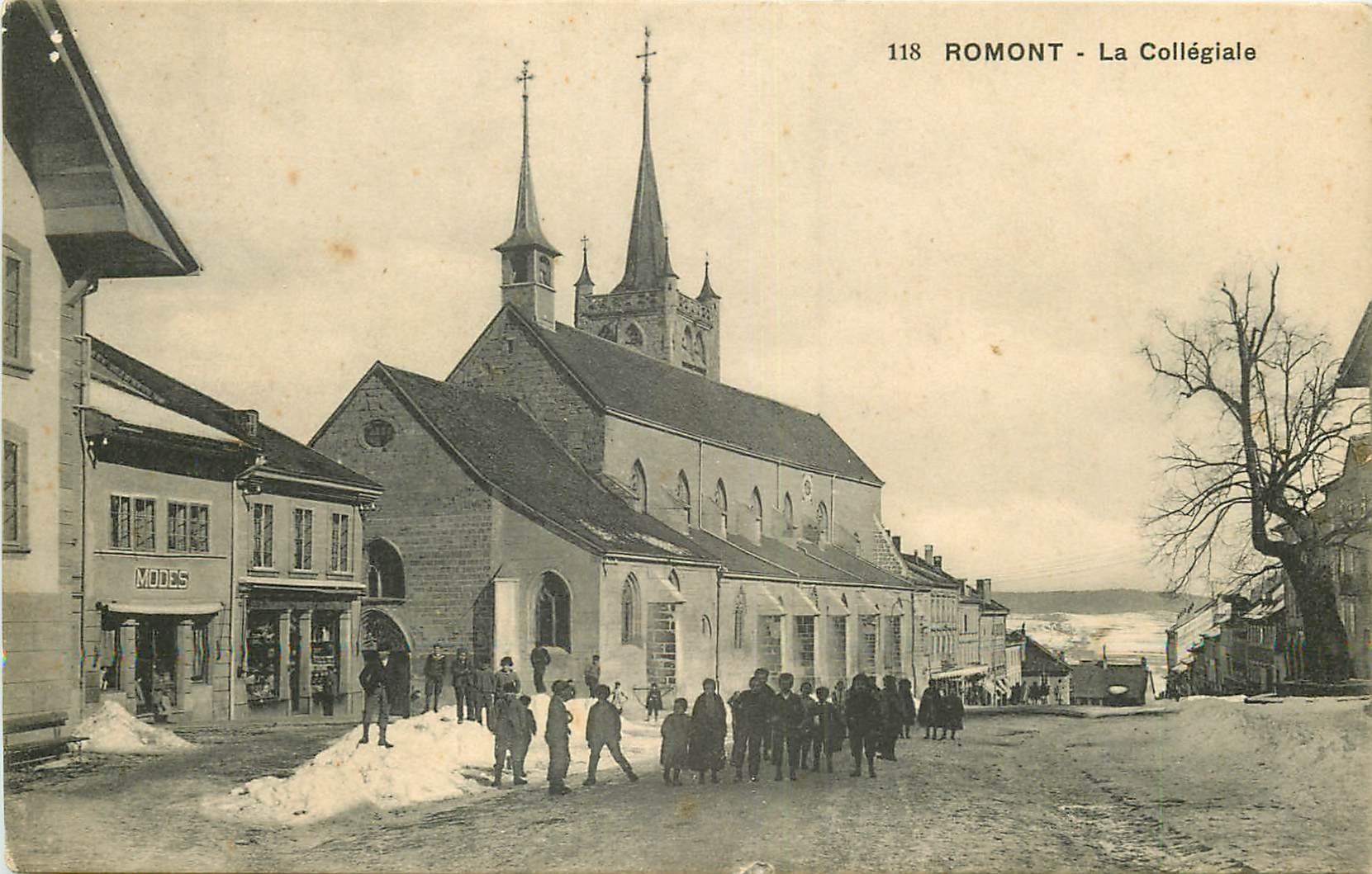 WW ROMONT. La Collégiale en Suisse