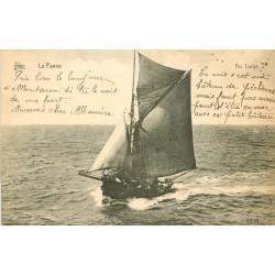 WW LA PANNE. Barque de Pêcheurs au Large 1923 en Belgique
