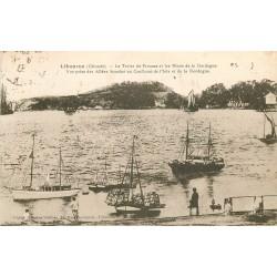 WW 33 LIBOURNE. Bateaux de transports et de Pêches au Tertre de Fronsac 1933