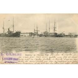 WW TUNISIE. Nouveau Port à Bizerte 1903