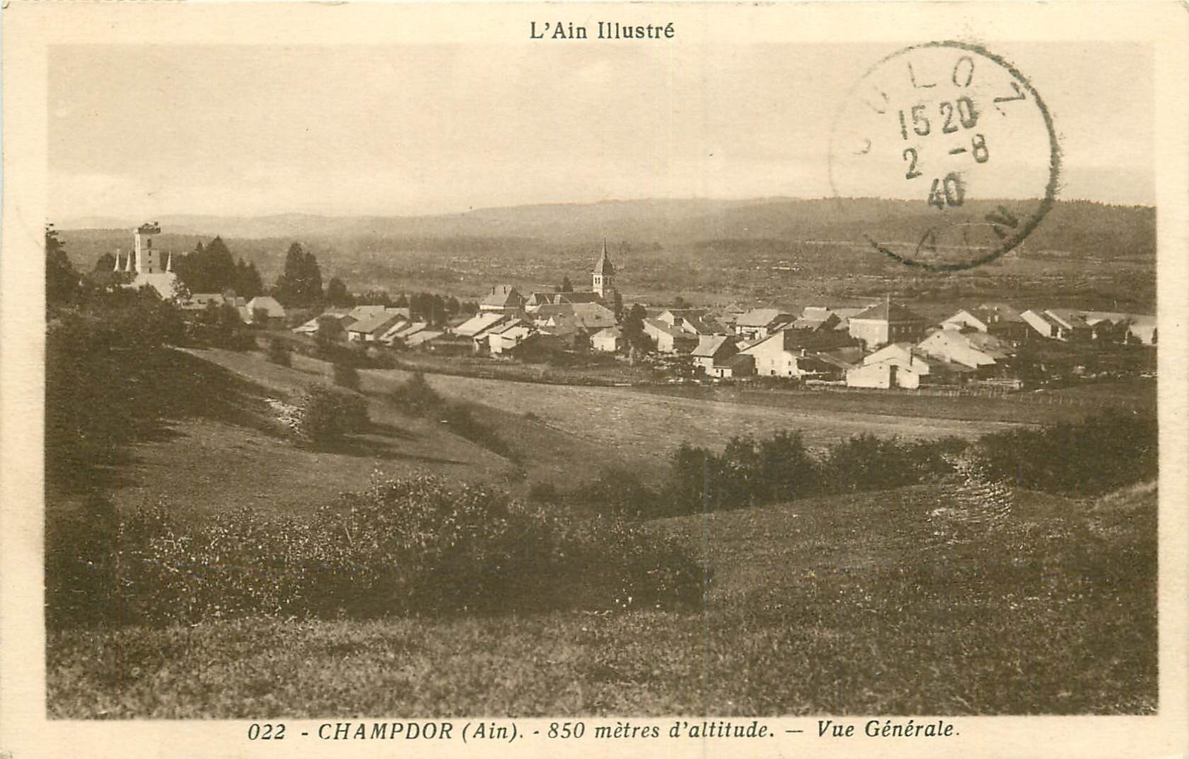 WW 01 CHAMPDOR. Le Village 1940