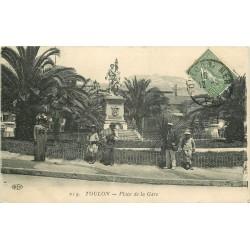 WW 83 TOULON. Postier militaire Place de la Gare