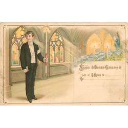 WW RELIGIONS. La Première Communion vers 1900 en l'Eglise de...