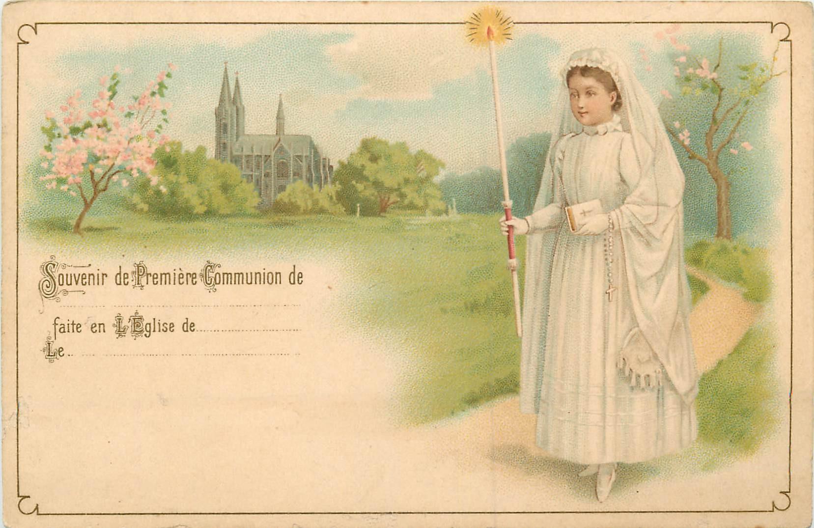 WW RELIGIONS. La Première Communion vers 1900 faite en l'Eglise de..
