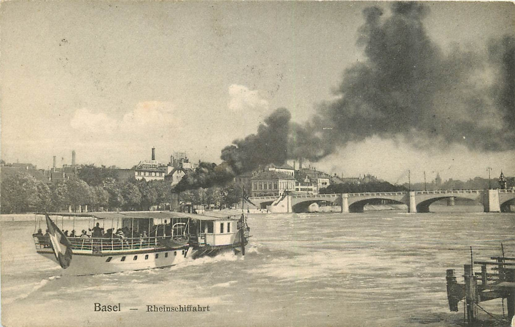 WW BASEL BALE. Rheinschiffahrt 1909