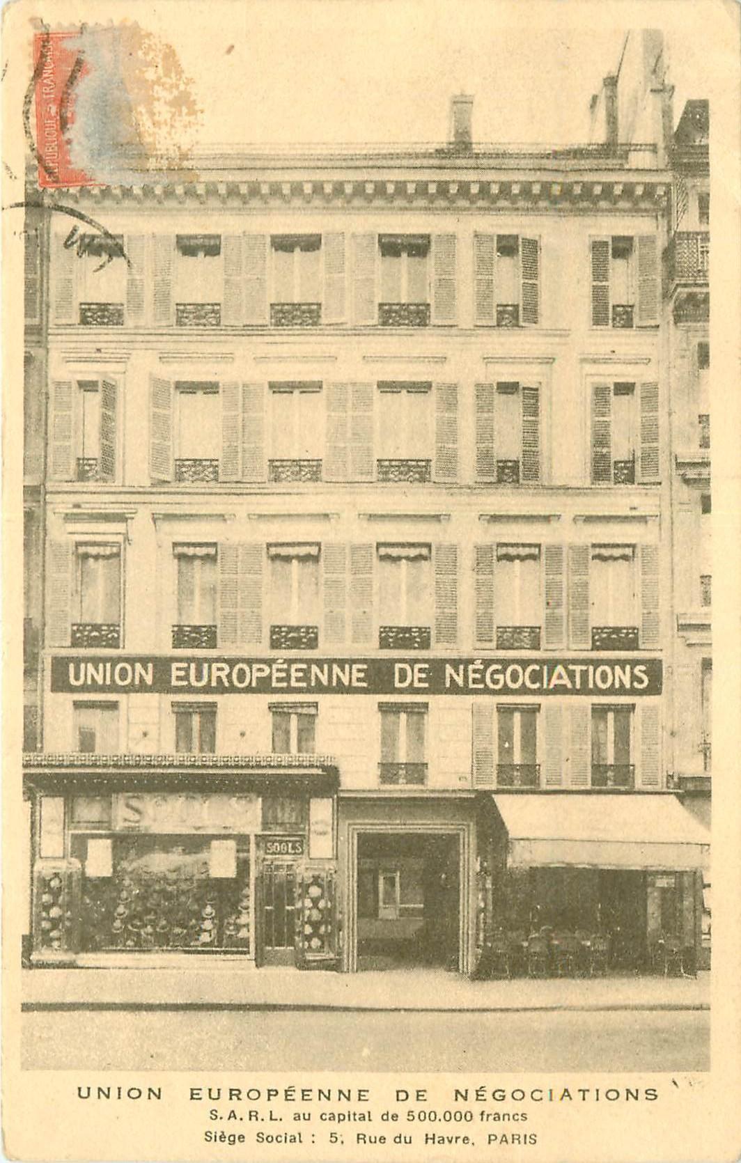 WW PARIS VIII. Union Européenne de Négociations 5 rue du Havre