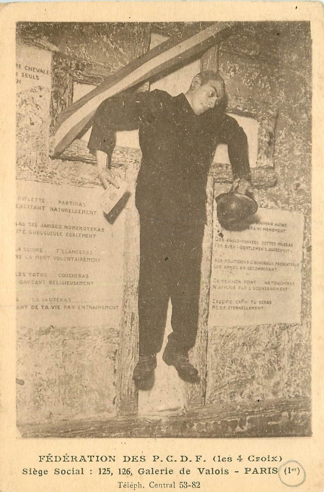 WW PARIS 01. Fédération des P.C.D.F les 4 Croix 125 Galerie de Valois