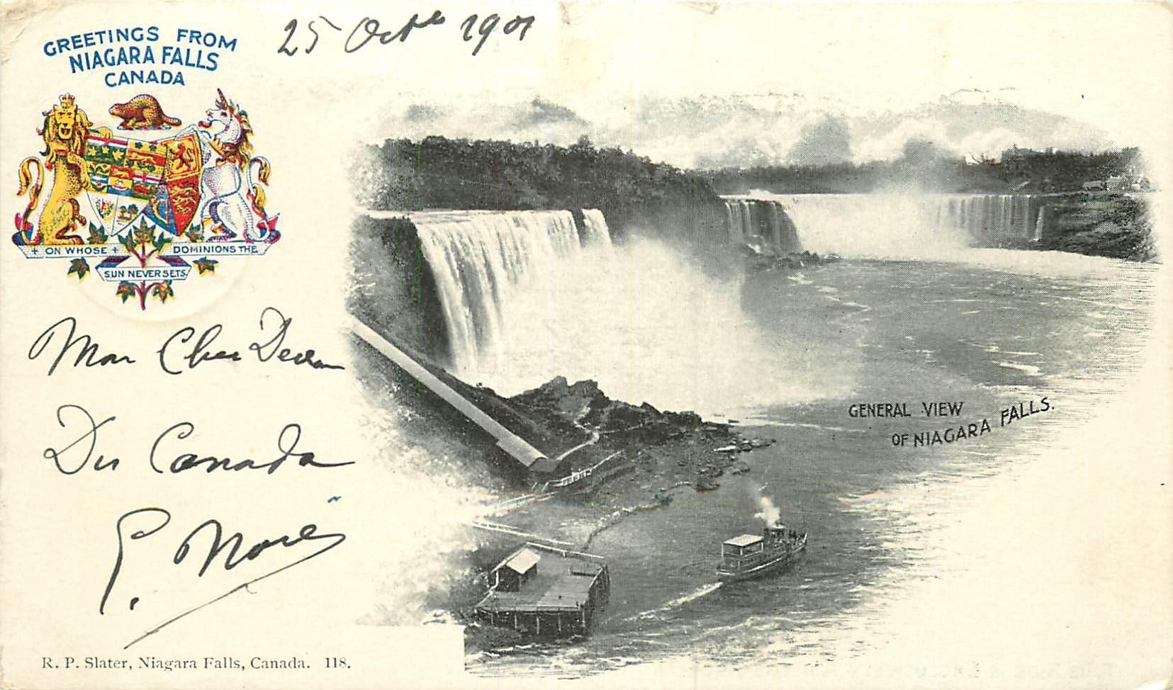 WW CANADA. Niagara Falls 1901