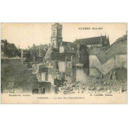 carte postale ancienne 02 SOISSONS. 1914-18 Rue des Francs-Boisiers