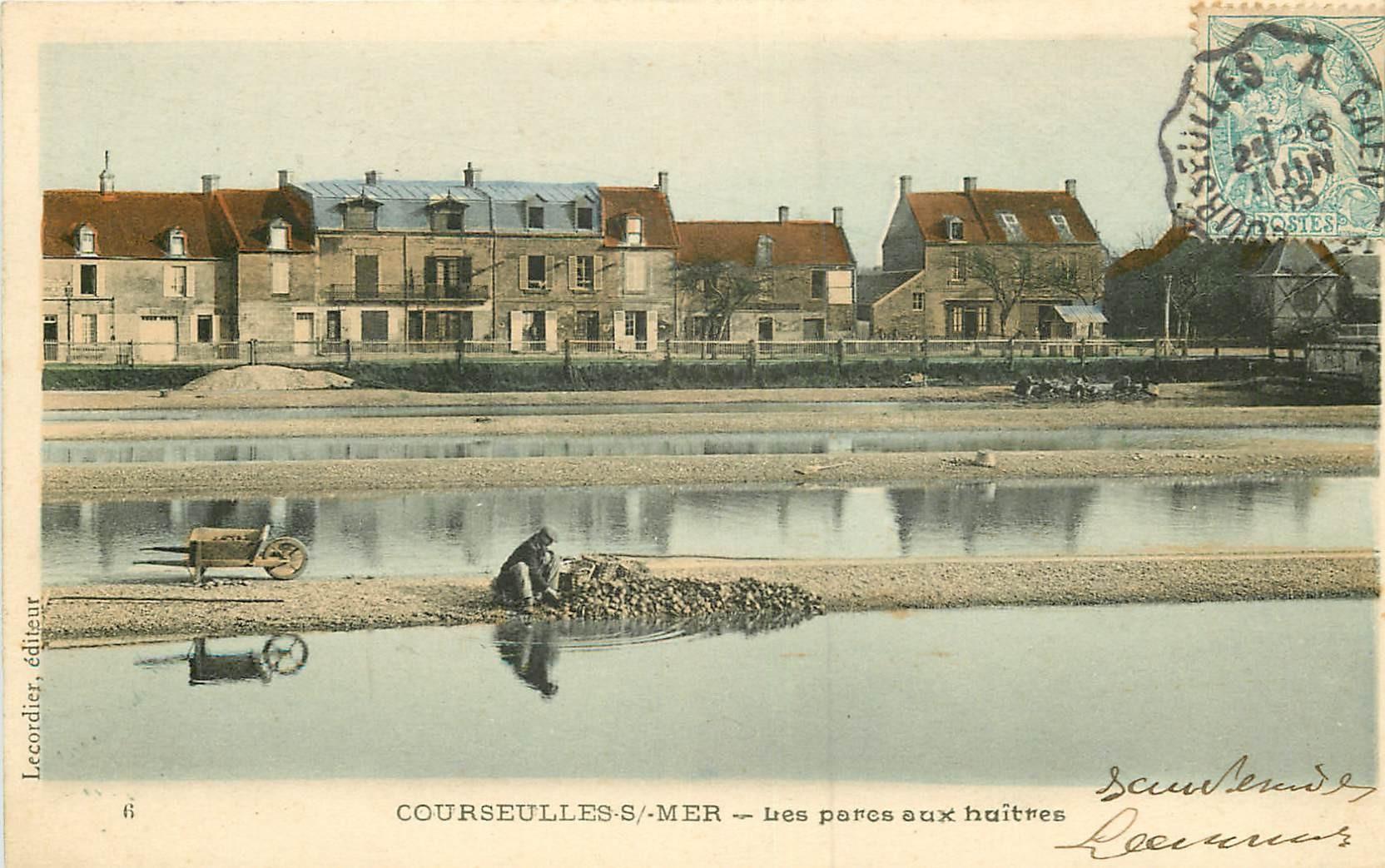 14 COURSEULLES-SUR-MER. Les Parcs à Huîtres 1905