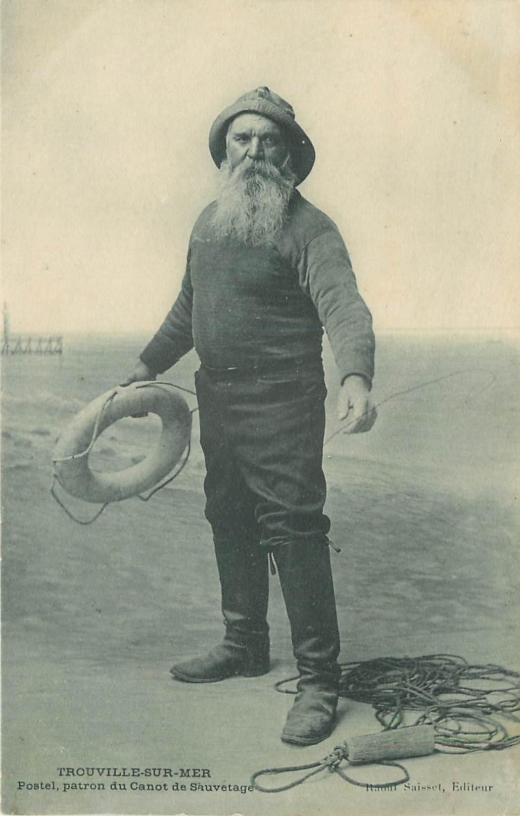 14 TROUVILLE-SUR-MER. Postel Patron du Canot de sauvetage 1905