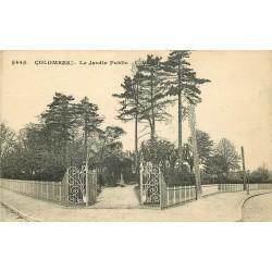 WW 92 COLOMBES. Le Jardin Public 1926