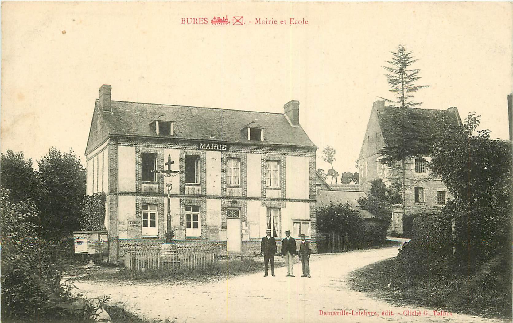 WW 76 BURES. Mairie et Ecole
