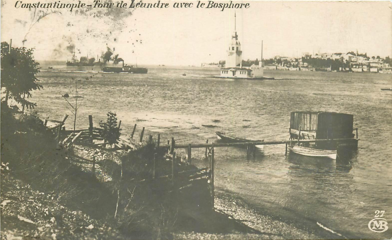 WW CONSTANTINOPLE. Tour de Léandre avec le Bosphore 1922