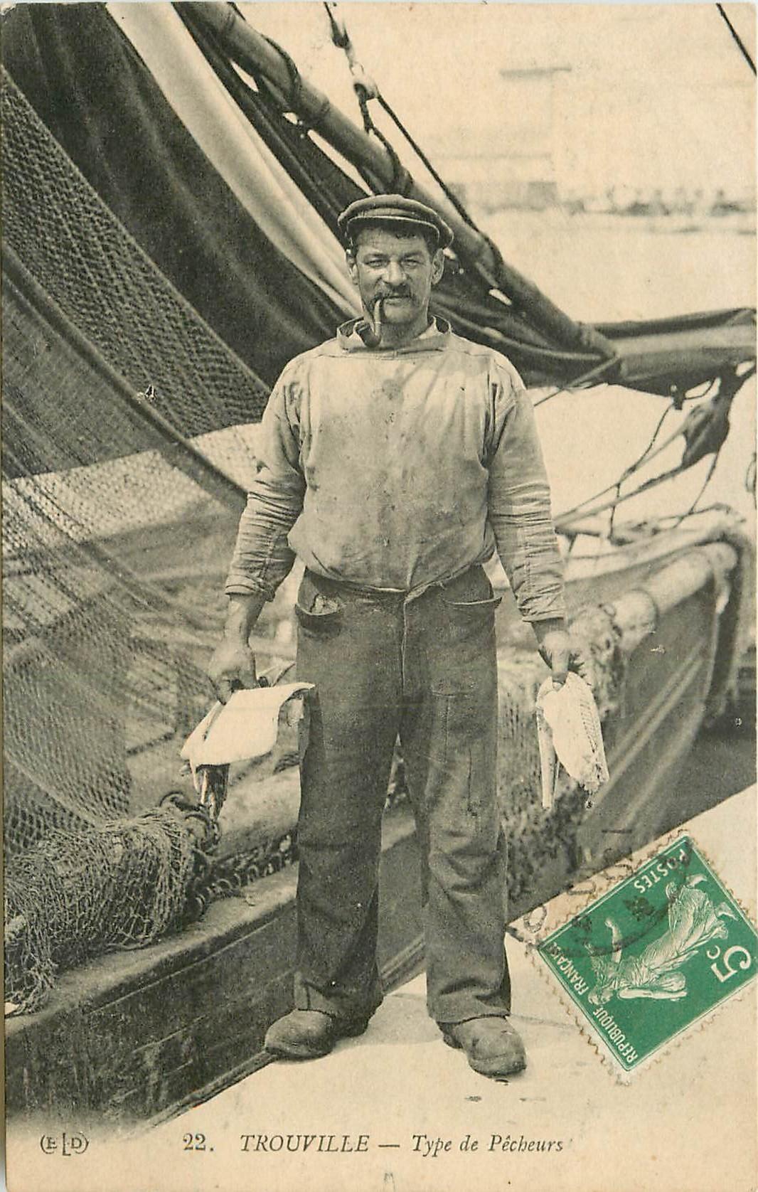 14 TROUVILLE. Type de Pêcheur